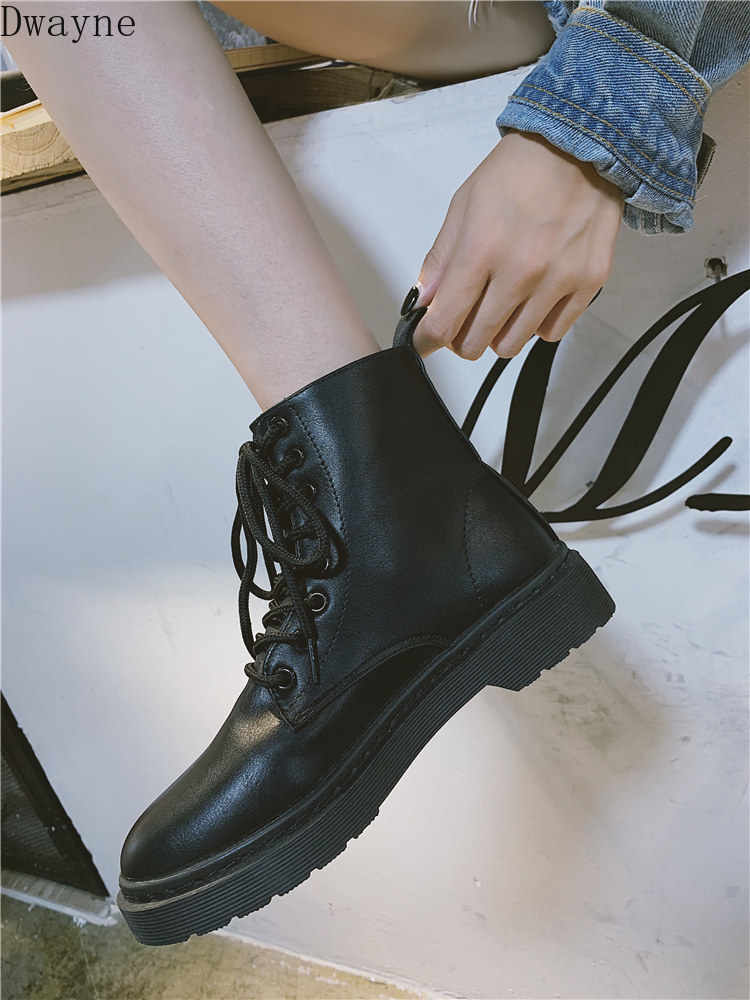Fall 2019 New Martin Boots Female Breathable Student Black Shoes Female British Wind Turbine Boots