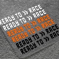 2 uds para carreras Ktm 250, 390, 690, 790, 890, 990, 1090, 1190, 1290 RC8 DE LA BICI del Motor de la motocicleta del casco de la pegatina reflectante etiqueta Accesorios