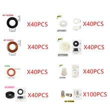 380Pcs Fuel Injector Repair Service Kits  For Honda & Toyota Car Replacement Rubber Oring Metal Filter Caps