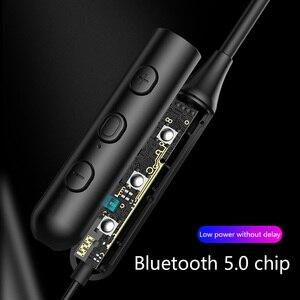 Image 4 - Draadloze Oortelefoon Hals Opknoping Sport Oortelefoon Bluetooth 5.0 Headset Smartphone Tablet Hoofdtelefoon, Rood