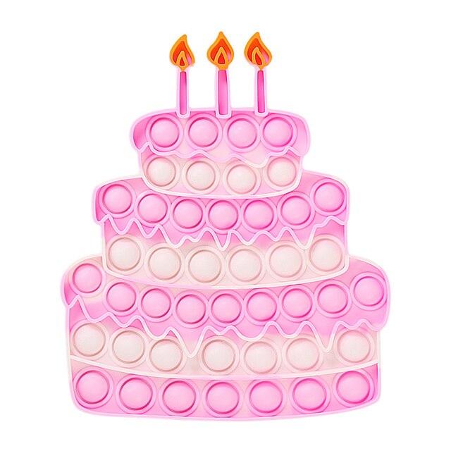 Happy Birthday Cake Food Fidget Toy Push Bubble Stress Sensory Toy 6