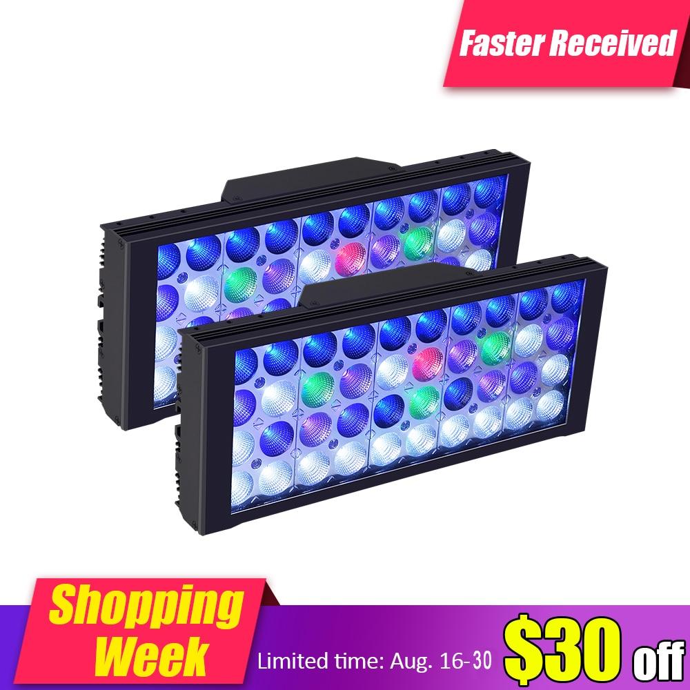 LED d'aquarium marin d'aquarium de lampe d'éclairage LED de PopBloom pour le poisson de corail de récif DSunY 4 canaux programmables Dimmable MJ3BP2