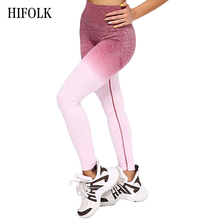 HIFOLK Fashion Women Fitness Seamless Leggings High Waist Push Up Pants Workout Jogging New Women Sporting Activewear Leggings