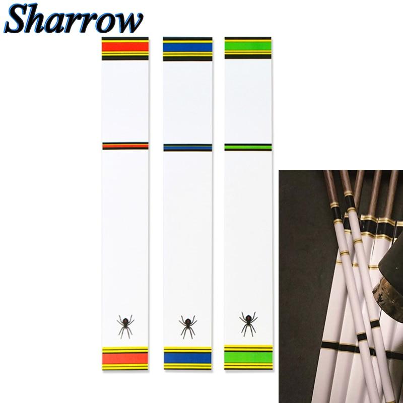 12/24 Arrow Shaft Skin Stickers Archery DIY Arrow Wraps Double-sided Adhesive Fiberglass Aluminum Carbon Shafts Hunting Shooting