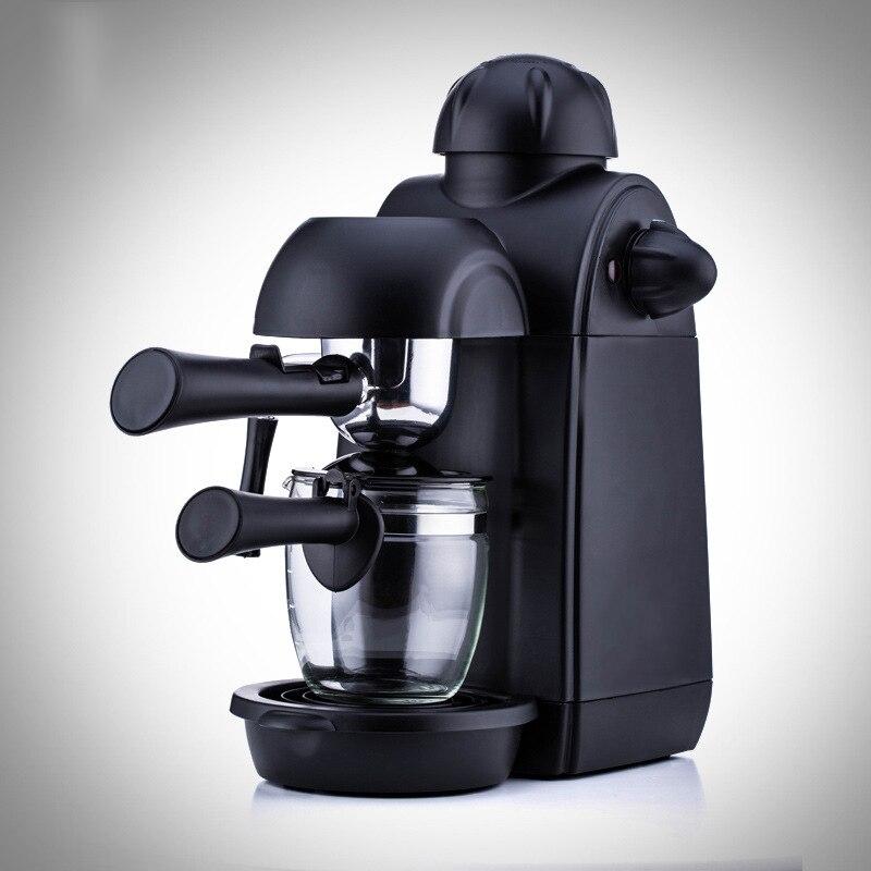 Домашняя маленькая кофемашина итальянская Коммерческая полуавтоматическая Паровая помпа пресс для взбивания молока черный шлифовальный ...