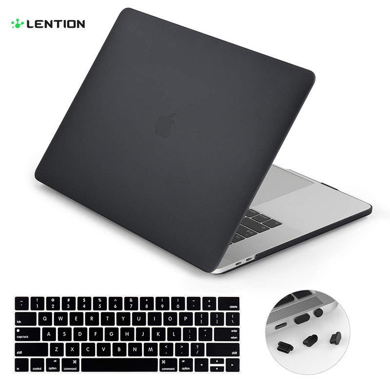 Lention Laptop Case For MacBook Air 13-inch,  Model A1369 And A1466 (Previous Generation), With Keyboard Cover And Port Plugs