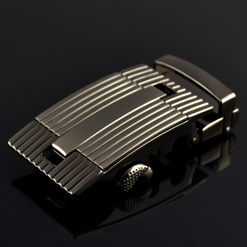 Fashion Men's Business Alloy Automatic Buckle Unique Men Plaque Belt Buckles For3.5cm Ratchet Men Apparel Accessories LY125-0378