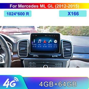Image 1 - 8 Core 4 + 64G Auto Android 8,4 zoll Display für Mercedes Benz M ML W166 GL X166 2012 2015 befehl System Upgrade Bildschirm