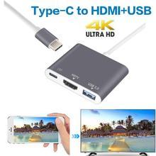Usb c HDMI typ c Hdmi USB C 3 1 konwerter typ adaptera c na hdmi HDMI USB 3 0 type-c stop aluminium dla Macbook Samsung S8 S9 tanie tanio KOQIT Męski-żeński 9175 Type C to HDMI Converter Adapter 120mm Aluminum alloy