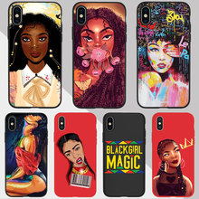 Black Girl Magic Melanin Poppin Queen art phone Case For iPhone 11 pro XR 7 6s 8 Plus 5S SE X XS MAX Couple TPU Silicone Cover babaite queen afro melanin poppin black girl phone cover for iphone x xs xr xsmax 7 7plus 8 8plus 6 6s 5 5s se 11 11pro 11promax