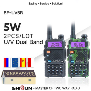 Image 1 - 2 adet Baofeng BF UV5R amatör radyo el telsizi Pofung UV 5R 5W VHF/UHF radyo çift bant iki yönlü telsiz UV 5r CB radyo