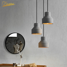Novel Retro Industrial Pendant Lights Lamp Stone LED Pendant Lighting Living Room Bar Bedside Bedroom Loft Decor Hanging Lamps