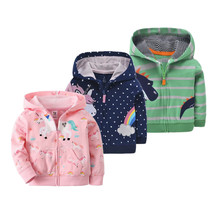 Spring Jacket For Baby Girl clothing Cartoon Unicorn Cotton Zipper Coats Outwear Newborn Baby Jackets Infant Costume Outerwear