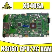 Новый X540SA материнская плата REV 2,0 для ASUS X540 X540S X540SA X540SAA материнская плата для ноутбука тест ok 2GB-RAM N3050/N3060 CPU