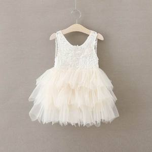 Image 5 - Summer Lace Girls Dress Gauze Kids Princess Dresses for Girl Vest Dress Party Dress Baby Clothes E16900