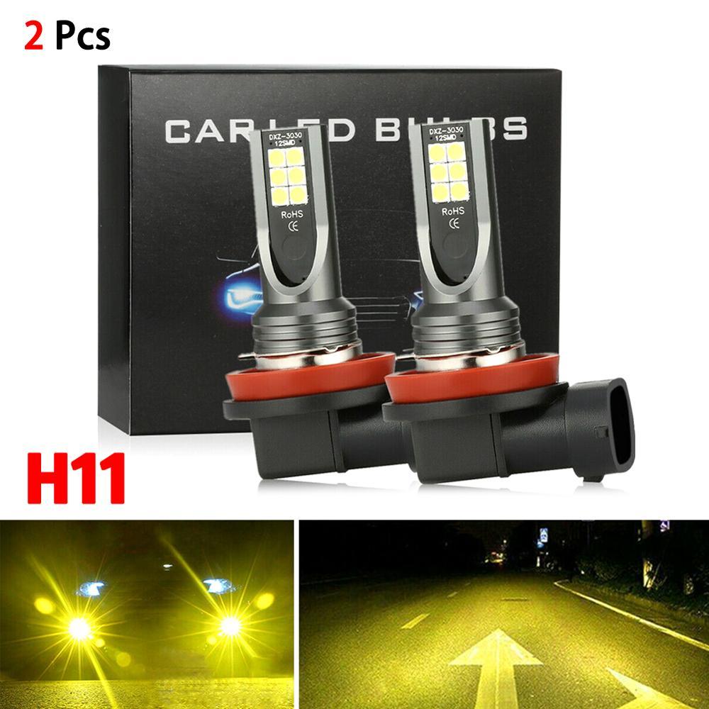 H11 H8 H9 LED Headlight Bulb Conversion Kit Bulbs High Power 3000K Yellow 350W DRL Lamps radiating L