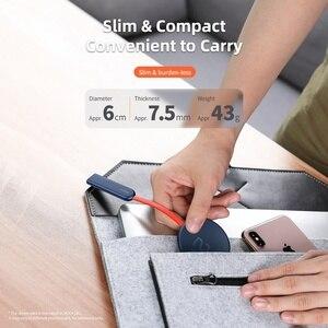 Image 4 - Kaya çift taraflı kablosuz şarj vantuz hızlı kablosuz şarj pedi gösterge ışığı 15W Qi iphone şarj cihazı XS 8 huawei
