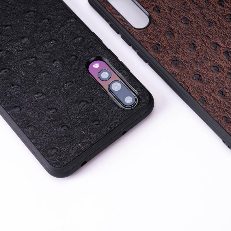 Caso de telefone da pele da avestruz para huawei companheiro 20 10 9 pro p10 p20 lite tpu macio borda capa para honra 8x max 9 10 nova 3 3i capa - 4