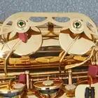 LADE latón grabado Eb e flat saxofón saxo abulón botones Shell con funda guantes paño de limpieza cinturón de grasa cepillo - 4