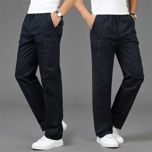 Image 3 - 2020 Autumn Fashion Men Pants Casual Cotton Long Pants Straight Joggers Homme Big Size 5XL Comfortable Loose Trousers for Men