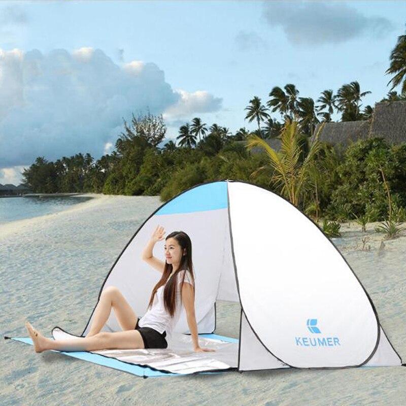 Tente de Camping automatique navire de RU plage tente 2 personnes tente instantanée Pop Up ouvert Anti UV auvent tentes extérieur Sunshelter