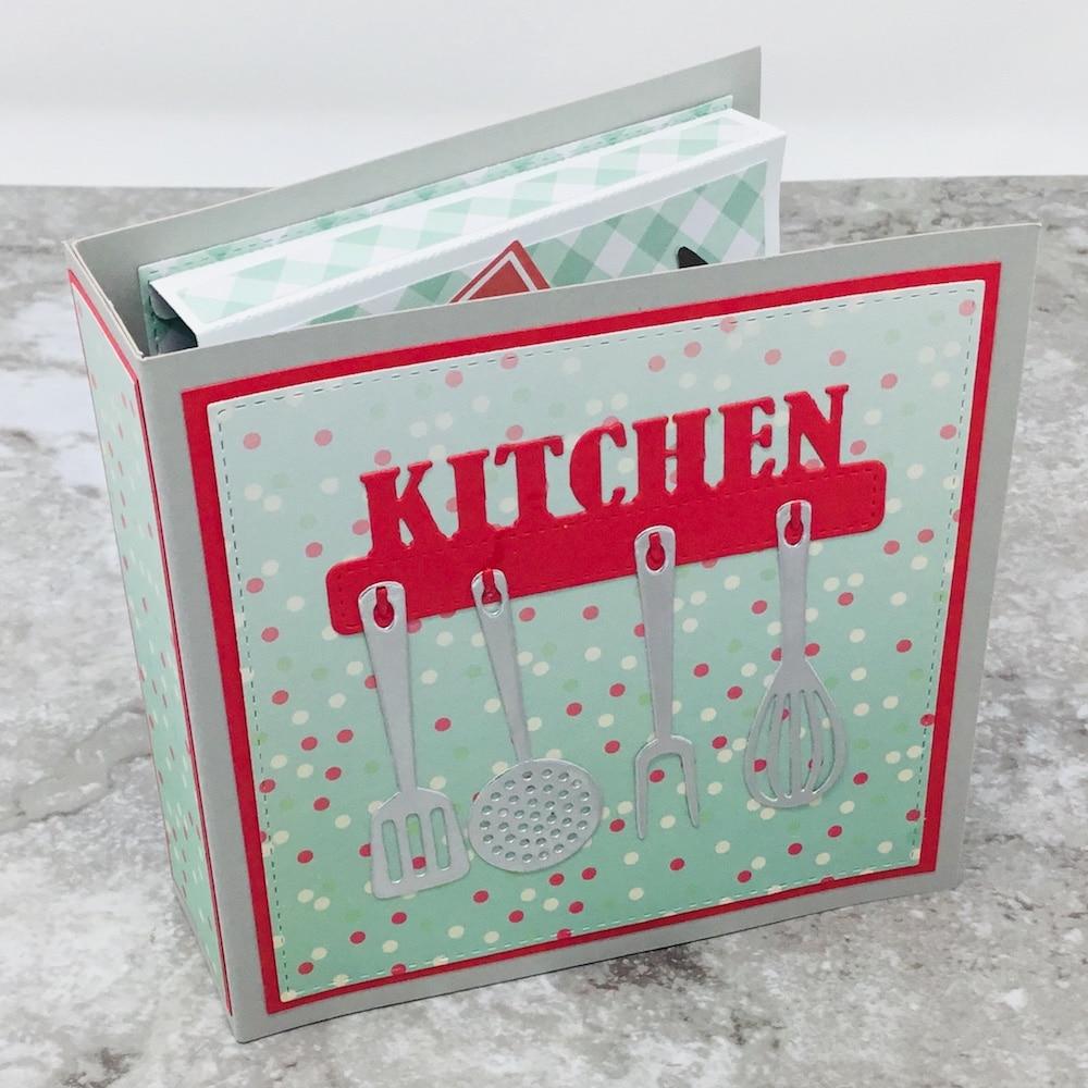 KSCRAFT Recipe Metal Cutting Dies Stencils For DIY Scrapbooking/photo Album Decorative Embossing DIY Cards
