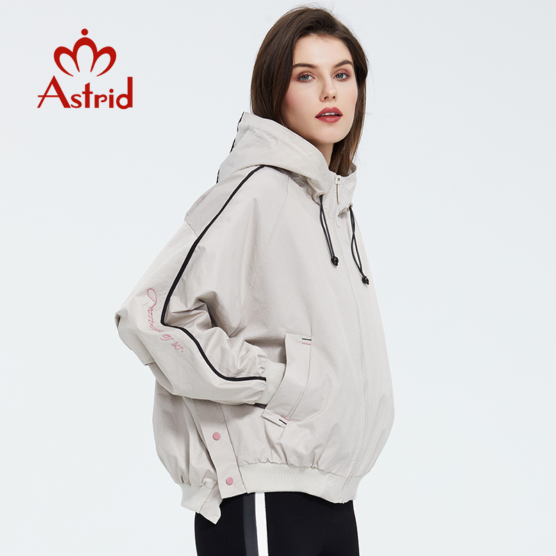 Astrid 2020 Spring New Arrival Casual Short Trench Coat Women  Fashion  Short Outwear Loose Trend Clothing Female Jacket ZS-7188