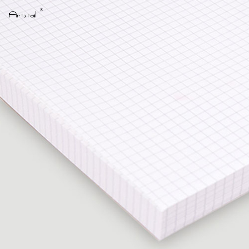 200pcs With Holes A4 Graph Paper 5 * 5mm Office Draft Comic Design Geometric Calculus Loose Leaf