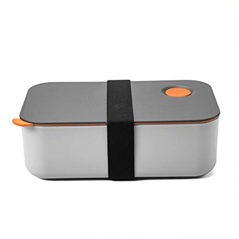 Lunch Box 1000ML With 2 Compartments, Eco Friendly BPA Free Bento Box, Hermetic Food Box, Microwave & Dishwasher Safe (Orange)