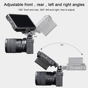 Image 4 - UURig R015 Universal Monitor Adapter Mount Holder with Arri 1/4 Screw Cold Shoe Video Camera Monitor Mount Bracket Cold Shoe
