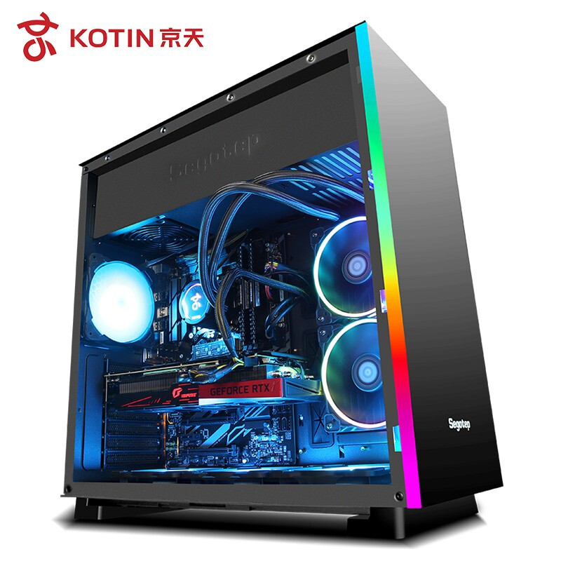 Kotin Intel Core i9 9900KF 3.6GHz Gaming PC Desktop Z390 RTX 2080Ti 11GB GDDR6 GPU 16GB RAM Computer Water Cooling image