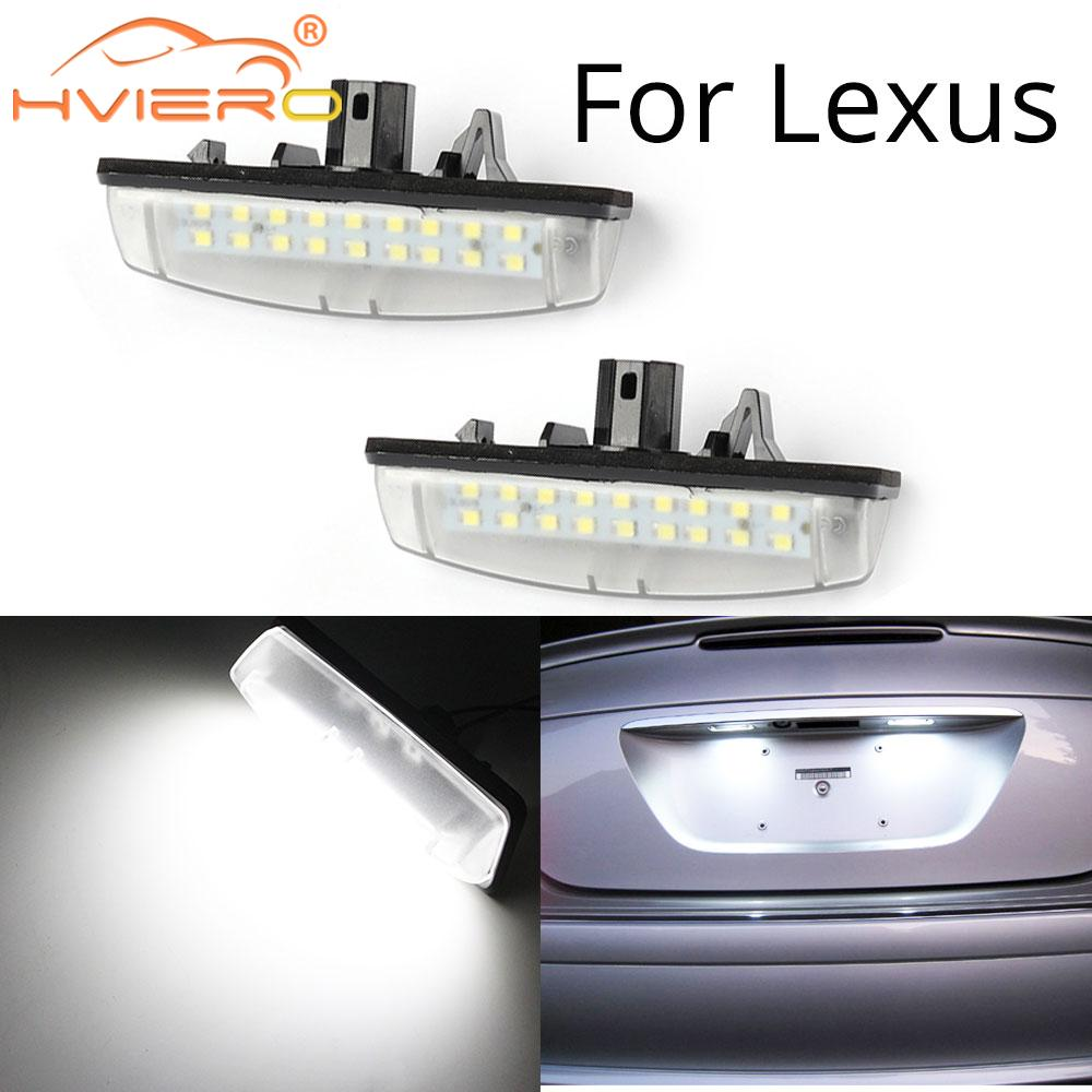 2Pcs Number License Plate <font><b>Lights</b></font> For Toyota Camry/Aurion Avensis Verso Echo Prius <font><b>LEXUS</b></font> Is200 / Is300 1999~2005 Canbus 12V lamp image