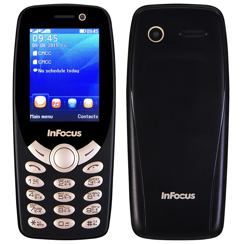 InFocus IF9012 Russian Keyboard Mobile Phone 2.4 Inch Gsm 1800mAh Push-button Cheap Unlocked Dual Sim Flashlight Cellphone