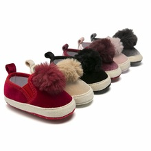 0-1-Year-Old Furry Ball Autumn And Winter Princess Shoes Baby Toddler Shoes Baby Shoes Toddler Shoes BABY #8217 S Shoes cheap First Walkers Low Top 13 Cm 57G Small Pompon Floral Embroidered 3148 Anti Slip Elastic Ribbon Cute 24 48 Months 3 4 Year Old
