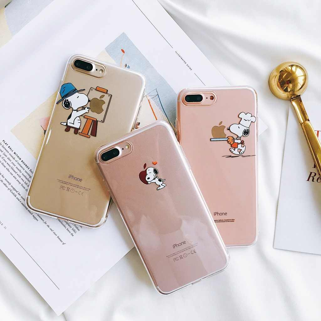 Venta al por mayor Cute cartoon puppy funda protectora transparente para iPhone 8 7 6 6s Plus Xr X Xs Max creativa resistente a los golpes