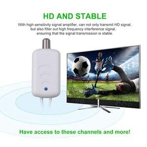 Image 5 - Kebidumei 4K דיגיטלי מגבר Booster טלוויזיה דיגיטלית אנטנה 300 קילומטר טווח HD מקורה HDTV 1080P HD טלוויזיה אנטנה שטוח עיצוב
