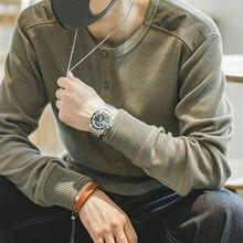 Мужские хлопковые футболки с круглым вырезом maden вязаные ВИНТАЖНЫЕ