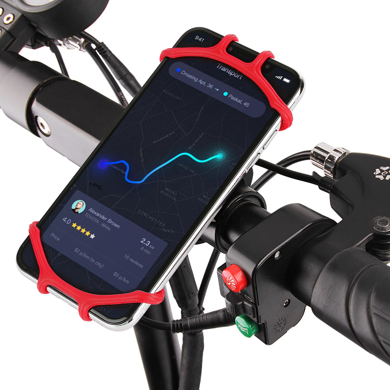 6 Colors Bicycle Phone Holder Universal Mobile Cell Phone Holder Silicone Mount Bracket Fork For Bicycle IPhone Samsung