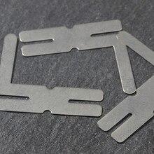 100 шт 0,15*8*25 H никелированный стальной ремешок листы для батареи точечный сварочный аппарат шайбы HW091
