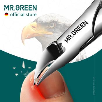 MR GREEN obcinacz do paznokci obcinacz do paznokci Pedicure narzędzia do Manicure Anti-Splash wrastające Paronychia profesjonalne narzędzie do korekcji zestawów tanie i dobre opinie CN (pochodzenie) Jedna jednostka Palec STAINLESS STEEL Trimmer clipper Mr-1033 ABS resin