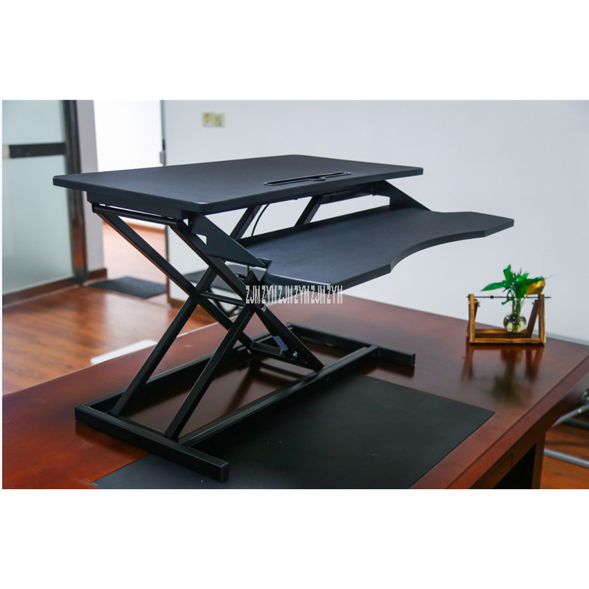 SZ-B08-1 Office Computer Standing Lifting Table Multi-Gear Household Study Room Stand Up Notebook Desktop Computer Folding Desk
