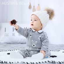 Girls Jumpsuits Sweater Rompers Baby Gray 6-24M Winter One-Pieces