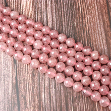 Hot Sale Natural Stone Strawberry Crystal Beads 15.5 Pick Size: 4 6 8 10 mm fit Diy Charms Beads Jewelry Making Accessories