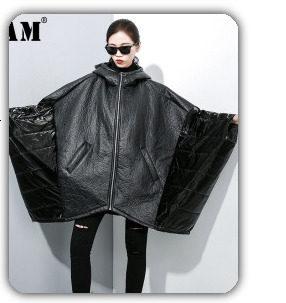 [EAM] 2019 Spring Plus Size Long Shirts Women Blouses Long-sleeve White Loose Tops Black White Cotton Shirt Big Size C006111 24