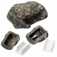 Outdoor Muddy Mud Spare Key House Safe Hidden Hide Security Rock Stone Case Box Fake Rock Holder Garden Ornament 6x8x3cm