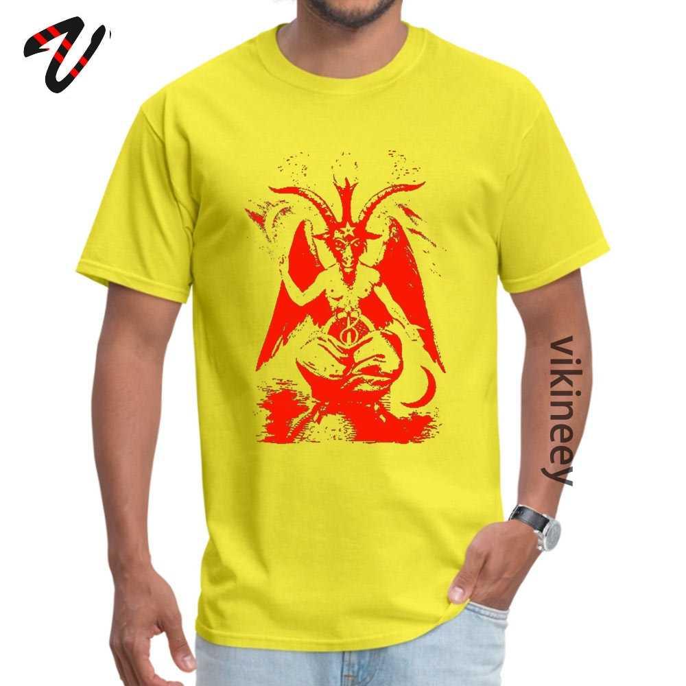 Rode Baphomet Casual Vaderdag Bermuda Stof Ronde Hals Heren Tops & Tees Tops & Tees 2019 Groene Lantaarn mouwen T-shirts