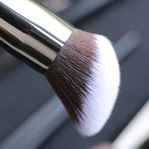 Image 3 - Sywinasสีดำชุดแปรงแต่งหน้า12PcsคุณภาพสูงSynthetic Hair Contour Eyeashadow Make Upชุดแปรง