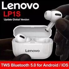 Беспроводные Bluetooth-наушники Lenovo LP1/LP1S, HD стереонаушники с шумоподавлением, TWS-наушники BT5.0 HiFi с микрофоном, беспроводные наушники