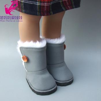 Botas de nieve de piel para muñeca de 18 pulgadas de la generación americana para bebé recién nacido
