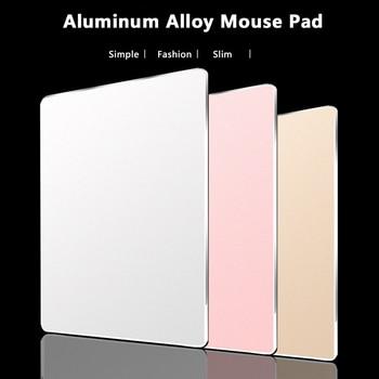 CHYI Aluminum Alloy Metal Slim Game Mouse Pad Gamer PC Computer Laptop Gaming Mousepad for Apple MacBook Pro Magic Xiaomi Mice